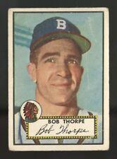 1952 TOPPS #367 BOB THORPE CENTERED BOSTON BRAVES HIGH NUMBER BASEBALL CARD