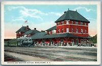 20th CENTURY LIMITED of NY CENTRAL LINES RAILROAD railway 1919 ANTIQUE POSTCARD