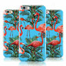 PALM FLAMINGO PATTERN PRINT BLUE CASE COVER FOR APPLE IPHONE MOBILE PHONES