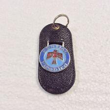 Vintage Leather Torpedo Keychain Key Fob Pontiac Firebird, Craftsman