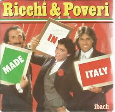 45 RPM 2 Tracks/Ricchi & Poveri Made in Italy