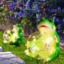 Solar Frog Garden Lights Walkway Yard Lawn Decor Patio Pathway Porch Art Figurin