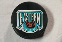 Vintage NHL Eastern Conference Hockey Puck Pittsburgh Penguins New York Rangers
