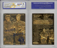 1997 YANKEES MURDERERS ROW BABE RUTH LOU GEHRIG 70TH Anniversary 23KT GOLD CARD
