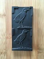 Vintage Egyptian 1970's Birds Tablet Black Soapstone Collectable $24.99