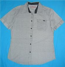 Mens JUST JEANS black white check shirt sz L NEW bnwt