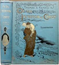 "1893 Imitation Of Christ By Thomas A Kempis Illustrated Fine Binding Lg. 10""x8"""