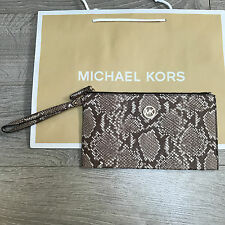 777dc6f9fa13 BNWT MICHAEL KORS FULTON Clutch MK Bag Purse RRP £120 Snake Leather 100%  Genuine