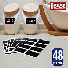 48x Chalkboard Blackboard Chalk Board Stickers Labels Craft Jar Kitchen Party