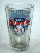 ST LOUIS CARDINALS 2006  NL CHAMPIONS champs WORLD SERIES Pint GLASS