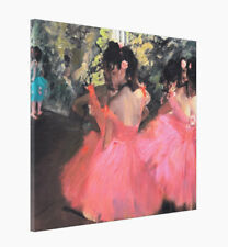 Edgar Degas Ballerina Tutu Pink READY TO HANG Canvas Print HQ Home Decor 20x24