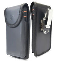 Premium AH 360 Rotating Vertical Phone Cell Phone Genuine Leather Holster Pouch