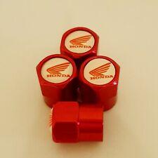 HONDA metal Wheel Valve Dust caps all models Red 5 colors Xmas stocking CB Shine