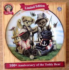 100th ANNIVERSARY DAN DEE TEDDY BEAR PLUSH COLLECTOR PLATE Limited Edition