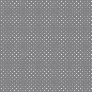 0.5 metre Grey Pinspots Cotton 100% Cotton Fabric 145cm wide