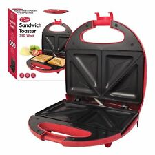 Quest Electric Sandwich Maker Toaster Toasie Easy Clean Non Stick Red 750w