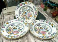 "Beautiful Rare Set of 3 Ashworth Bird of Paradise China Soup Bowls  10 1/2"""