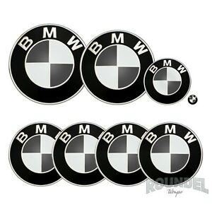 For BMW Badges - Gloss Dark Grey  - All Models Decals Wrap Stickers Overlays