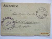 Frankreich Roye-Noyon, Feldpost 1. Garde ID F. Artillerie Batterie 1916 (25278)
