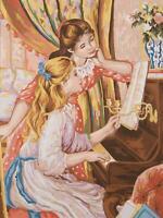 Grafitec Estampado Tapicería/Bordados Lienzo – Niña en El Piano (Renoir)