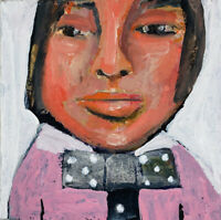 Portrait Painting Outsider Art Wild Night Katie Jeanne Wood