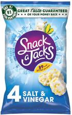 Snack un Jacks sel et vinaigre de riz, 8 x carton de 4 Simple 32 Packs x