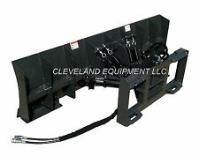 "NEW 96"" SNOW PLOW / DOZER BLADE ATTACHMENT Skid Steer Loader Hydraulic Angle 8'"