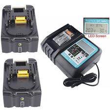 2x 4A 18V Akku für Makita BL1840B BL1830 BL1840 Li-Ion+Ladegerät DC18RC De