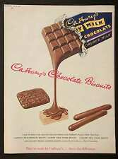 CADBURY'S CHOCOLATE BISCUITS - Vintage Full Page Magazine Advert (13 Jun 1953) *
