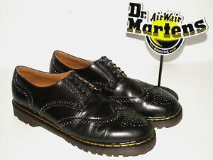 vintage Dr. Martens black leather BROGUES shoes made in ENGLAND uk 11 (doc413)