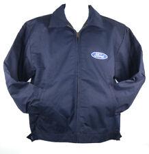 David Carey Oval Ford Logo Work Jacket Zipper Pockets Water Resistant Lined