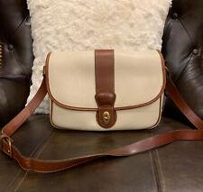 Vintage Coach Beige Sheridan Mayfield Large Pebbled Leather Crossbody Bag