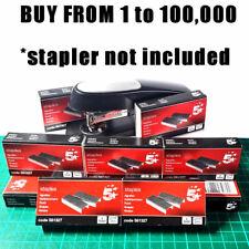 5* BULK BUY 1 to 100000 24/6 STAPLES FOR 24/6 26/6 STAPLERS BOX 1000 10000 pack