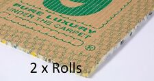 2 Rolls - 30m² - Cloud 9 Cumulus 11mm Thick Carpet Underlay - Luxury