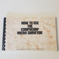 Compucorp 154 Micro Surveyor Calculator User Manual Guide Vintage 1973 how to