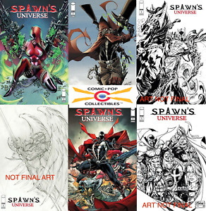 (2021) SPAWN'S UNIVERSE #1 Cover A B C D E F 6 Variant Cover Set Campbell! Booth