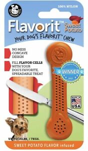 Flavorit Small Sweet Potato Flavoured Dog Chew Nylon Bone
