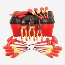 Wiha 32973 22 Piece Insulated Pliers/Cutters/Screwdrive r/Nut Driver Tool Box Set