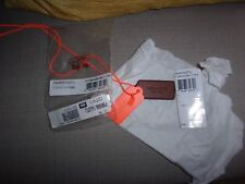 NWT COACH SADDLE/NEON ORANGE LEATHER & METAL DOGTAGS NECKLACE MSRP $90