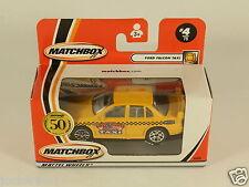 [OF3-83] MATCHBOX 50 YEARS 1952-2002 #4 FORD FALCON TAXI 95806 MATTEL WHEELS MIB