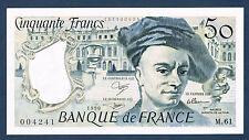 FRANCE-50 FRANCS QUENTIN de la TOUR Fayette n°67.16 de 1990 en NEUF M.61 004241