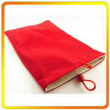 Red Soft Velvet Pouch Bag Case for Apple Iphone ipod 4S 5 Cell phone MP3 MP4 MP5