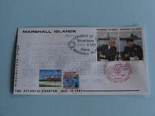 WWII FDC #23 Atlantic Charter Churchill Roosevelt MH * 50th Anniversary