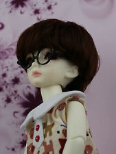 6-7 inch Chocolate Synthetic Mohair Yo-SD BB BJD Doll Short Wig