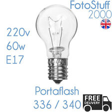 Portaflash 60w Modelling Bulb 220v 60w E17 for Portaflash 336VM 340VM Krypton