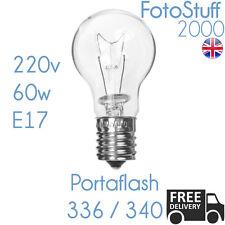 Portaflash 60w Modelling Bulb 220v 60w E17 | For Portaflash 336VM 340VM Krypton