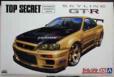 Aoshima 059845 2002 Nissan Skyline GT-R R34 BNR34 Top Secret JDM 1:24
