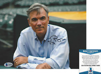 BILLY BEANE OAKLAND ATHLETICS GM MONEYBALL SIGNED 8x10 PHOTO E BECKETT COA BAS