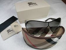 Burberry Sunglasses BE 3067 116611 Brushed Silver BRAND NEW 100% AUTHENTIC