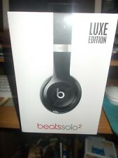 Beats by Dr. Dre Solo 2 HD Headphones Lot Luxe Edition Black in Box New Music